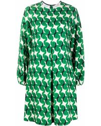 ODEEH プリーツドレス - グリーン