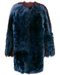 Sofie D'Hoore Veste bicolore en fourrure artificielle - Bleu