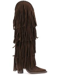 DSquared² Fringed Knee-length Boots - Brown