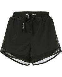 The Upside Mesh Trim Shorts - Black