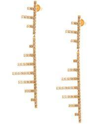 Eva Fehren 18kt Rose Gold Axis Diamond Earrings - Metallic