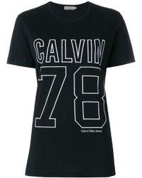 Calvin Klein Jeans - Sports Logo T-shirt - Lyst