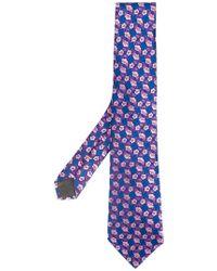 Canali - Corbata con estampado floral - Lyst