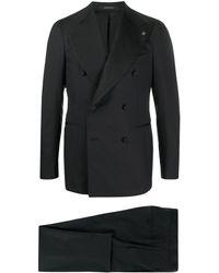Tagliatore Double Breasted Tuxedo - Black