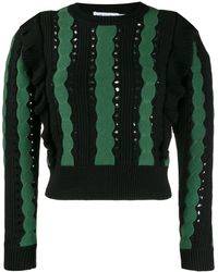 Self-Portrait - Two Tone Knitted Top - Lyst