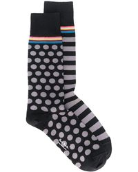 Paul Smith Socken mit Print-Mix - Schwarz