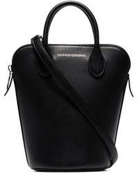 CALVIN KLEIN 205W39NYC Black Dalton Mini Leather Bucket Bag
