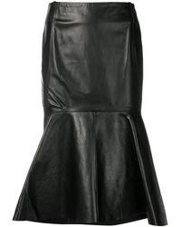 Balenciaga ゴデット スカート - ブラック