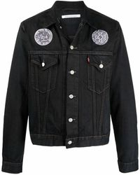 Children of the discordance Logo-patch Denim Jacket - Black