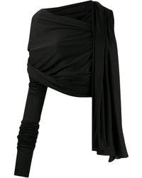 Dolce & Gabbana Топ Асимметричного Кроя - Черный