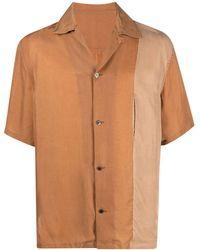 Attachment Camicia a manica corta bicolore - Arancione