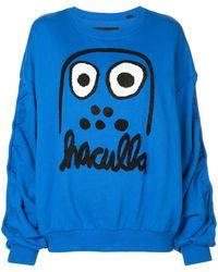 Haculla Monster Print Sweatshirt - Blue
