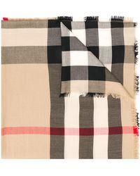 Burberry - カシミア チェック スカーフ - Lyst