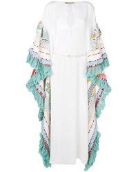Emilio Pucci Vestido de fiesta estilo caftán con detalles - Blanco