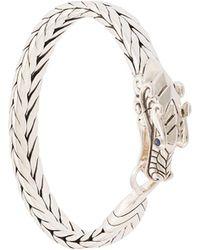 John Hardy - Silver And Sapphire Legends Naga Medium Bracelet - Lyst