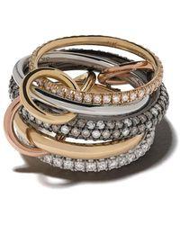 Spinelli Kilcollin Кольцо Leo Ccw Из Золота И Серебра С Бриллиантами - Металлик