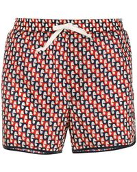 Gucci - Abstract Print Swim Shorts - Lyst