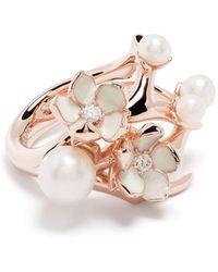 Shaun Leane Cherry Blossom ダイヤモンド&パール リング - ピンク