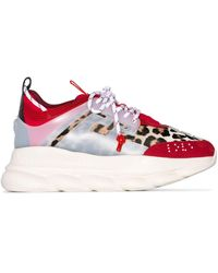 Versace Chain Reaction Chunky Sneakers - Rood