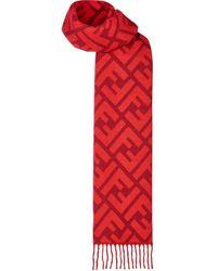 Fendi - Ff ロゴ ロングスカーフ - Lyst