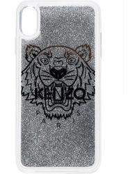 KENZO Iphone Xs Max Hoesje Met Tijgerprint - Metallic
