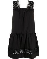 P.A.R.O.S.H. レースディテール ドレス - ブラック