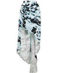 16Arlington Aster ドレープ スカート - ブルー