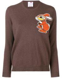 Ultrachic - Rabbit Print Sweater - Lyst