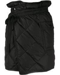 Moncler キルティング スカート - ブラック