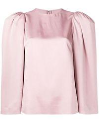 Valentino Топ Со Структурными Плечами - Розовый