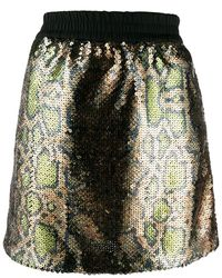 N°21 スパンコール スカート - グリーン