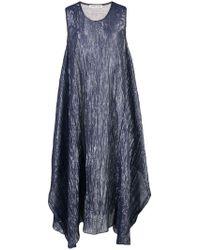 Tsumori Chisato - Crinkle-effect Metallic Dress - Lyst