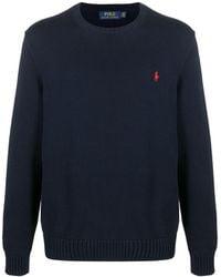 Polo Ralph Lauren Джемпер С Вышитым Логотипом - Синий