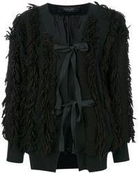 FEDERICA TOSI - Lace-up Fringed Jacket - Lyst