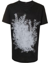 Ann Demeulemeester プリント Tシャツ - ブラック