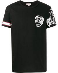 Alexander McQueen Футболка С Принтом Skull - Черный