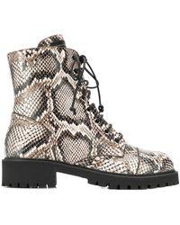 Giuseppe Zanotti Snakeskin Effect Boots - Multicolor