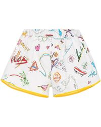 Mira Mikati - Cotton Shorts With Illustration - Lyst