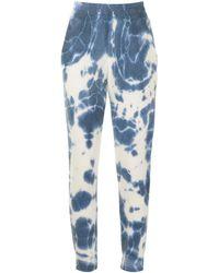 The Elder Statesman Bleach-effect Cashmere Joggers - Blue