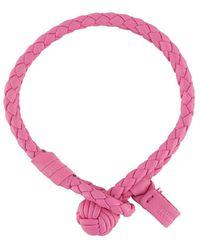 Bottega Veneta Плетеный Браслет - Розовый