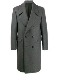 Lemaire Double-breasted Midi Coat - Gray