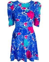 P.A.R.O.S.H. Sotty フローラル ドレス - ブルー