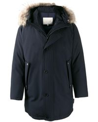 Mackintosh Dornoch Navy Wool Down Parka   Gd-1001 - Blue