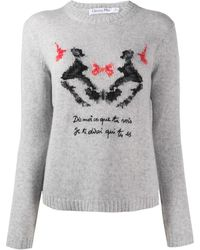 Dior Pre-owned Abstract Pattern Sweater - Gray