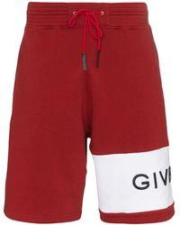 Givenchy ロゴ スウェットショーツ - レッド