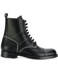 Loewe - Contrast Stitch Boots - Lyst