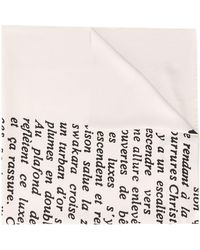 Dior Pre-owned Handwritten Print Scarf - Multicolour