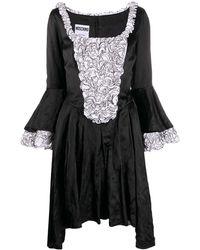 Moschino フレアスリーブ ドレス - ブラック