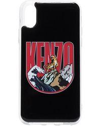 KENZO Funda para iPhone X con motivo de tigre - Negro