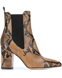 Paris Texas Chelsea Snake Ankle Boot - ブラウン